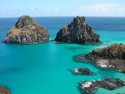 The islands of Fernando de Noronha, Brazil, are the visible parts of submerged mountains.
