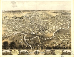 A lithograph of Fort Wayne (1868).
