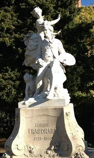 Statue of Fragonard in Grasse, his birthplace