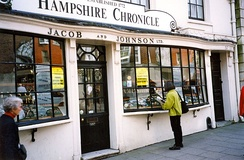 Hampshire Chronicle office in Winchester, 1999