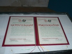 An example of a 'gemellaggio' (twinning) agreement between Castellabate, Italy and Blieskastel, Germany