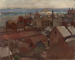 Newcastle (1925), oil on canvas, by George Washington Lambert