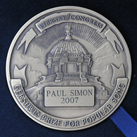 Reverse of the 2007 Library of Congress Gershwin Prize for Popular Song medal awarded to Paul Simon