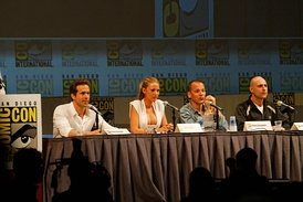 Strong with the cast of Green Lantern at the 2010 San Diego Comic-Con International