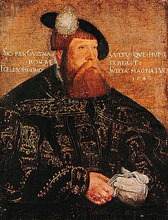 Gustav I, portrayed here in 1542 by Jakob Binck, legally created the hereditary monarchy and organized the Swedish unitary state.