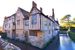 Ightham Mote, a 14th-century moated manor house in Kent, England