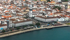 Ponta Delgada, on São Miguel Island, is the largest city in the Azores and the executive capital of the Azores.