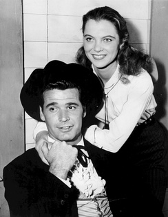 "Garner and Louise Fletcher in ""The Saga of Waco Williams"""