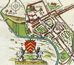 John Speed's map of Cardiff from 1610