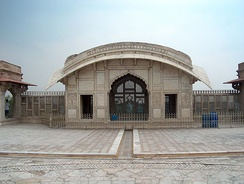 Bengali curved roofs were copied by Mughal architects in other parts of the empire, such as in the Naulakha Pavilion in Lahore