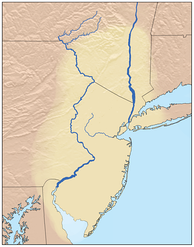 Traditional Confederations of Lenape lands, the Lenapehoking, not showing any of the several divisions governed by matriarchies
