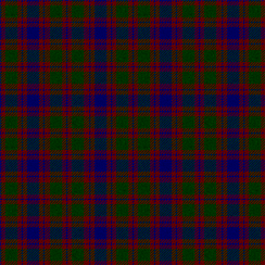 An early tartan associated with the names Logan, Skene and Rose.[13]