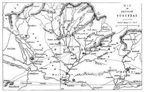 19th century map of northern Gandhara.