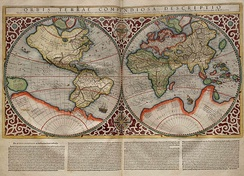 Terra Australis, as it appears on a map by Rumold Mercator, 1587