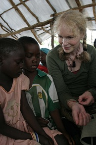 Farrow during a visit to the Central African Republic