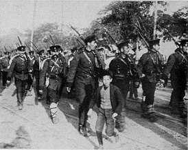 Departure of mobilized Bulgarian soldiers.