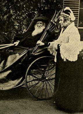 Fawcett's parents, Newson and Louisa Garrett, in their old age