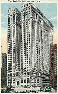Early postcard picturing the Equitable Building