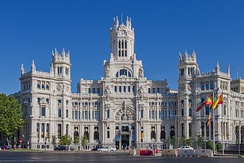 Palacio de Cibeles is the seat of the City Council of Madrid.