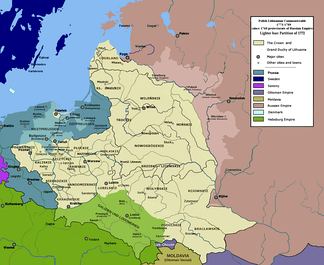 The Polish–Lithuanian Commonwealth after the First Partition, as a protectorate of the Russian Empire (1773–89)