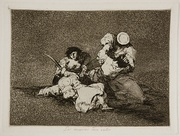 Plate 4: Las mujeres dan valor (The women are courageous). This plate depicts a struggle between a group of civilians fighting soldiers.