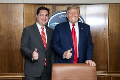 Rouzer with President Donald Trump in 2020