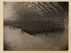 Queen's Own Rifles on parade in a Toronto drill hall, 1910