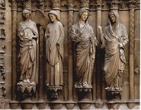 West portal at Reims Cathedral, Annunciation group.