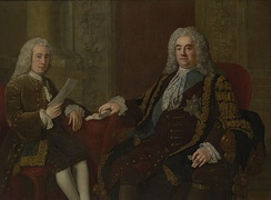 Walpole with his secretary, Henry Bilson-Legge, by Stephen Slaughter