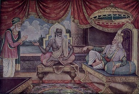 Vyasa, at middle of the picture