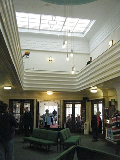 Interior of the terminal building