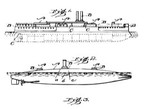 Countershaded ship and submarine in Thayer's 1902 patent application