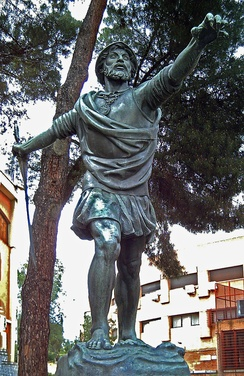 Statue of Balboa in Madrid (Enrique Pérez Comendador [es], 1954)