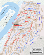 Siege of Vicksburg; positions June 23–July 4, 1863