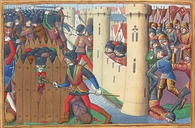 15th-century depiction of the French troops attacking an English fort at the siege of Orléans