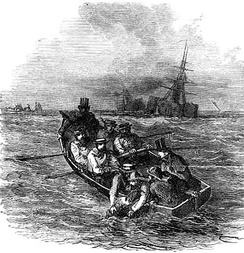 Magwitch's arrest after his capture on the Thames while trying escape to France, by John McLenan