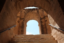 Vomitorium of the Amphitheatre of El Jem, Tunisia