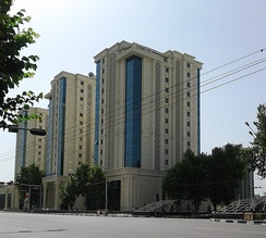 Modern high-rise architecture in Dushanbe