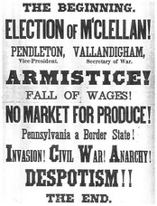 Union Party poster for Pennsylvania warning of disaster if McClellan wins.