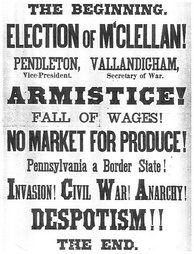 A National Union poster warns of a McClellan victory.