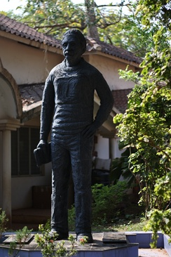 Statue of Albert Einstein at the Science Park, Kannur