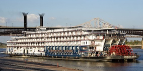 The American Queen, the world's largest operating river steamboat