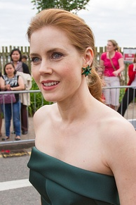 A side profile of a smiling Amy Adams