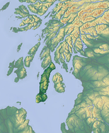 Control of Eastern Ulster (bottom left) allowed direct communication with western Scotland