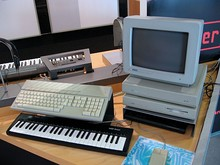 1980s typical software sequencer platform, using Atari Mega ST computer.