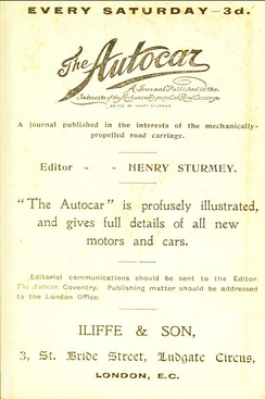1897 advert for Autocar