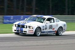 A GT racing version of the Ford Mustang, competing in the Koni Challenge in 2005