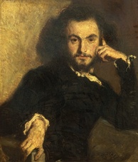 Portrait of Baudelaire, painted in 1844 by Emile Deroy (1820–1846)