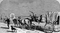 German immigrants on the way to New Braunfels (1844)