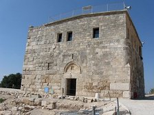 The same Crusader/Ottoman tower after rebuilding. The upper part was used as a school from the early 1900s until 1948.[2].